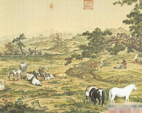 中国十大传世名画——清·郎世宁《百骏图》