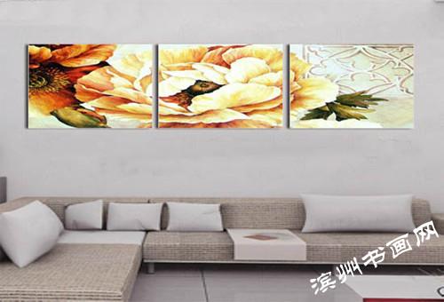 客厅装饰画效果图赏析(三)-滨州书画网